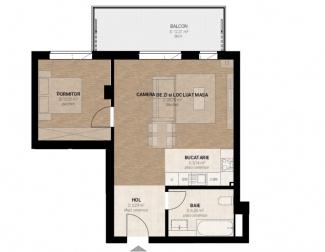 VA2 104438 - Apartment 2  rooms for sale in Dambul Rotund, Cluj Napoca