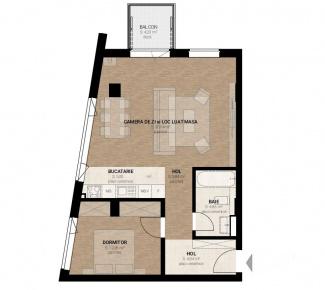 VA2 104513 - Apartament 2  camere de vanzare in Dambul Rotund, Cluj Napoca