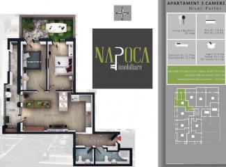 VA3 106736 - Apartament 3  camere de vanzare in Floresti