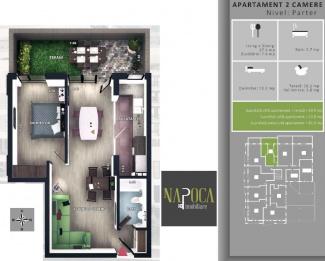 VA2 106737 - Apartament 2  camere de vanzare in Floresti