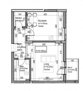 VA1 107364 - Apartment one rooms for sale in Dambul Rotund, Cluj Napoca
