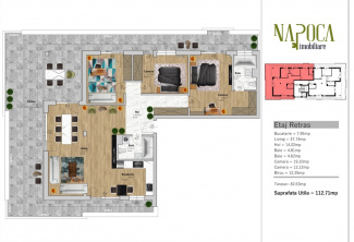VA4 108966 - Apartament 4  camere de vanzare in Floresti