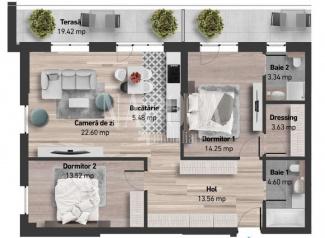 VA3 110890 - Apartament 3  camere de vanzare in Zorilor, Cluj Napoca