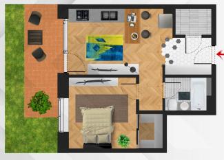 VA2 92731 - Apartament 2  camere de vanzare in Centru, Cluj Napoca