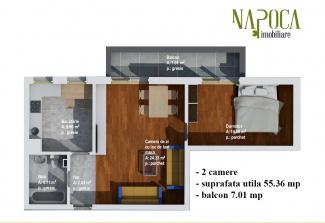 VA2 93782 - Apartament 2  camere de vanzare in Baciu