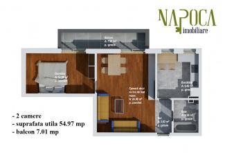 VA2 93784 - Apartament 2  camere de vanzare in Baciu