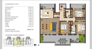 VA4 95059 - Apartament 4  camere de vanzare in Buna Ziua, Cluj Napoca
